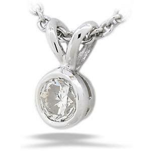 Jewelry - 0.85ct BEZEL SET Round solitaire diamond pendant